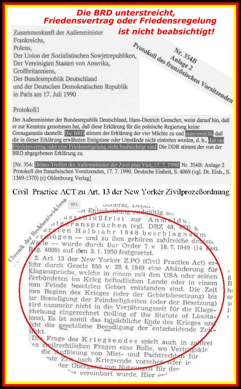 Friedensvertrag am 17. Juli 1990 nicht beabsichtigt - Das deutsche Volk wurde nicht gefragt!